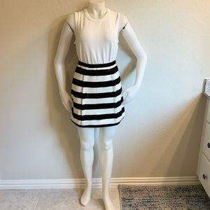 MISSONI Black & White Stripped Knit Mini Skift NWT